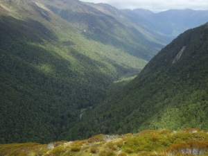 Looking back down the Robinson River valley - that's what I walked up!