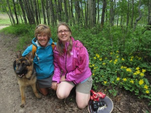 With Zorka and my friend Dianne.  Diane and I spent the summers backpacking with Forward Steps 21 years ago!