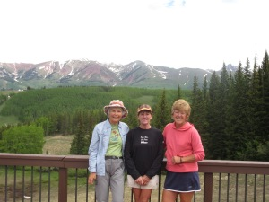 With my friends Ruth and Sue - hiking on Crested Butte Mountain Resort