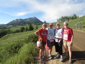 4th of July - ⅓ marathon with Roberta, Jane and Robin!