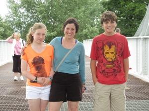 At Pegasus Bridge with Beth and Siobhan