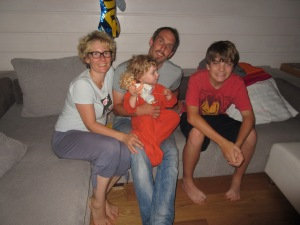 With Susie, Basti and Paula at their new home outside Fürth, Germany