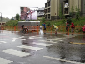 The USA Pro Challenge Bike Race came through CB on a rainy day in August.