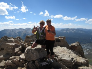 With Suellen on top of Mt. Crested Butte