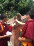 """Monks at the """"Monkey Temple"""""""