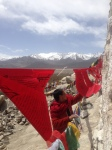 Red Lady Prayer Flags at Shey Monastery