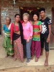 With Prakash and his family