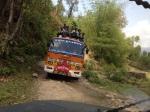 Full buses going out of Kathmandu
