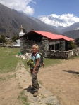 At Tengboche - that's Everest behind me