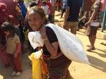 Food distribution in Dharmasthali