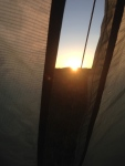 Sun coming in the tent!