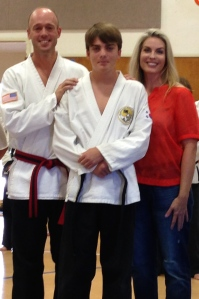 Steve, Gates and Chanda - At the Black Belt Ceremony