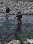 Lots of river crossings going up the Mingha River to Goat Pass