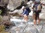 Many river crossings going down the Deception River.  Yes - it was cold water!