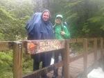 "Going up to Ada Pass - crossing the ""Billy Goat Gruff"" Bridge"