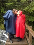 Rainy bridge kisses!