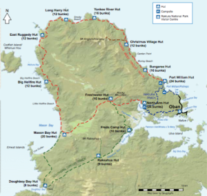 This is the map from the Stewart Island Brochure