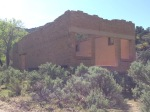 The old school building up Sego Canyon
