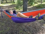 """My favorite way to """"hang out"""" in the woods!"""