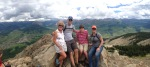 On top of Mt. CB with Steve, Gates and Chanda