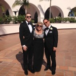 All dressed up for the wedding with Dakota and Craig