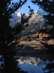 Early morning reflection of Whetstone in Lake Grant